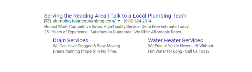An example of a search ad
